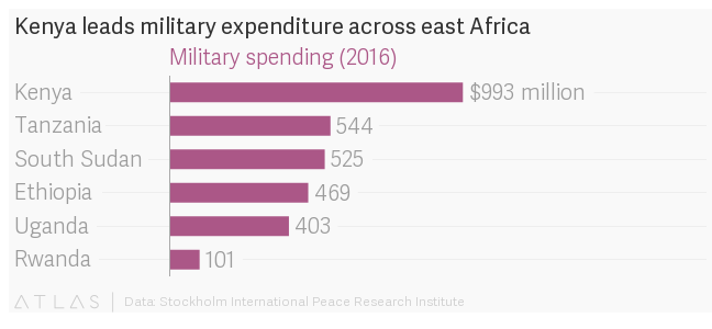 Africa's military budgets are being squeezed by the global slump in commodities